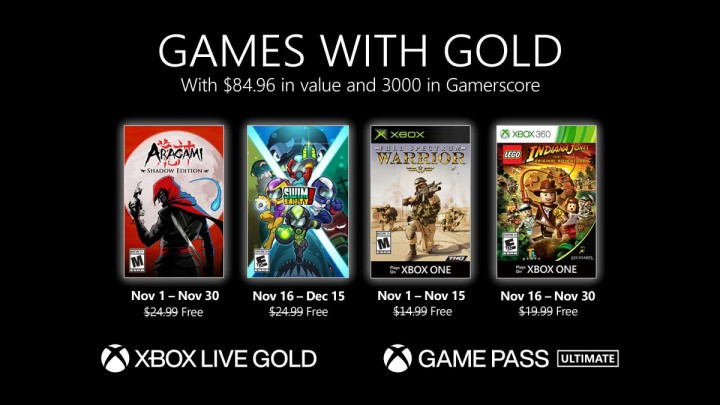 Games with Gold listopad 2020