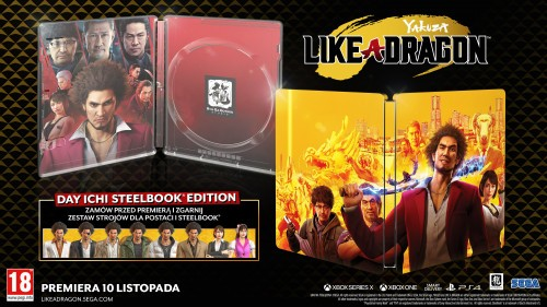 Promcoja na Yakuza Like a Dragon Steelbook Edition