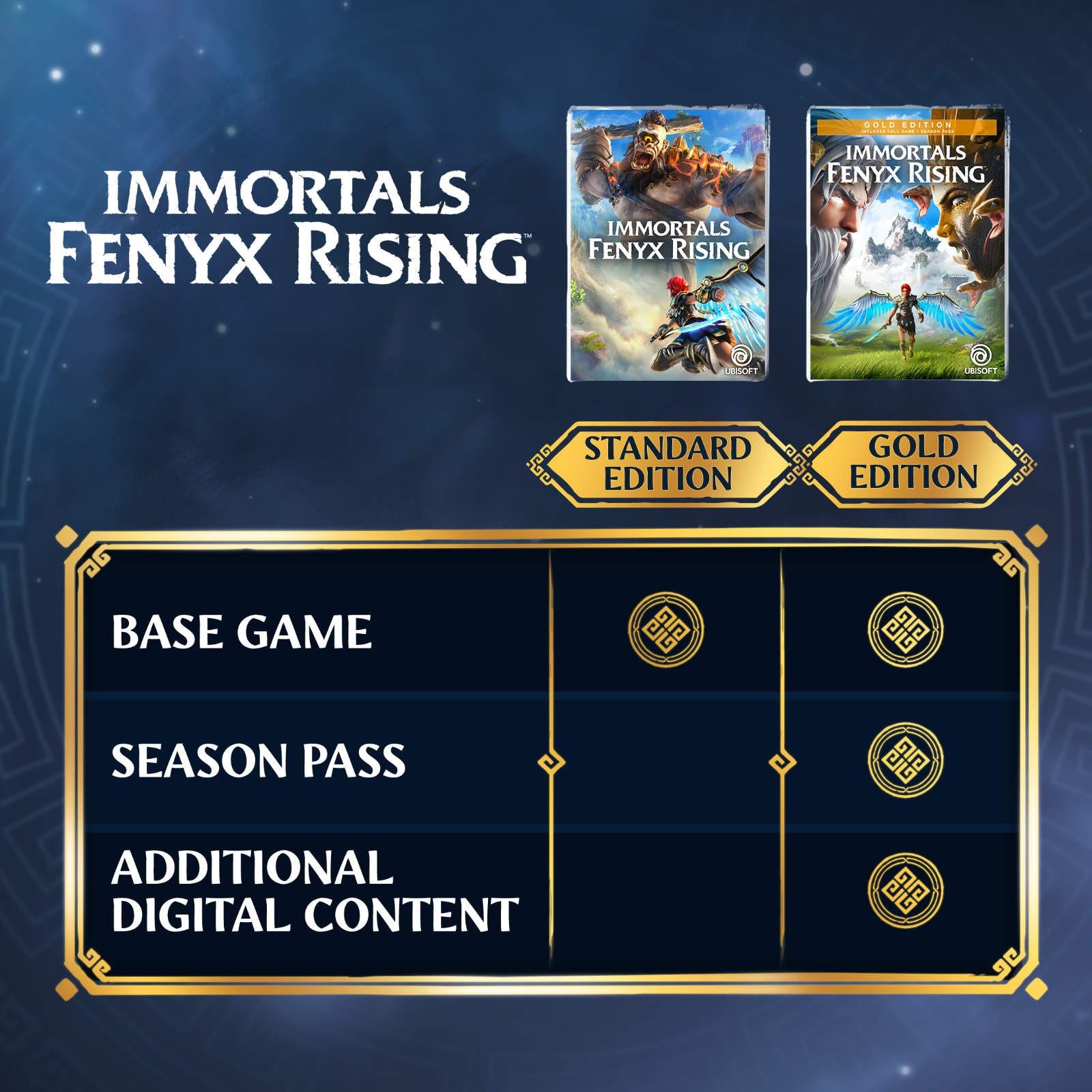 Porównanie edycji gry Immortals Fenyx Rising
