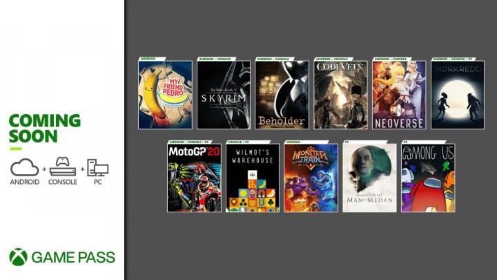 Xbox Game Pass Grudzień 2020
