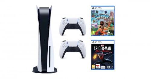 Promocja na PlayStation 5 + Dodatkowy kontroler DualSense + Marvel's Spider-Man: Miles Morales + Sackboy