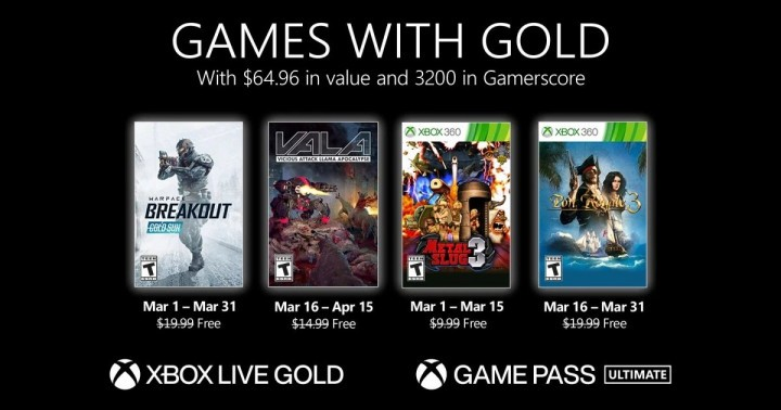 Games with Gold for March 2021