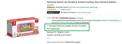 Nintendo-Switch-Lite-Koralle-Animal-Cros