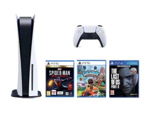 PlayStation 5 + Marvel's Spider-Man: Miles Morales Ultimate Edition + Sackboy: A Big Adventure + The Last Of Us Part II