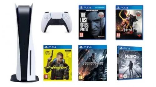 Promocja na PlayStation 5 + The Last of Us Part II + NiOh 2 + Cyberpunk 2077 + Terminator + Metro Exodus