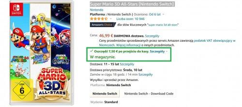 Promocja na Super Mario 3D All-Stars