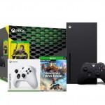 Promocja na Xbox Series X + Cyberpunk 2077 + Immortals Fenyx Rising + dodatkowy pad (biały)