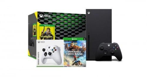 Promocja na Xbox Series X + Cyberpunk 2077 + Immortals Fenyx Rising + dodatkowy pad facebook