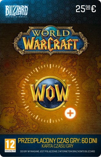 Karta podarunkowa World of Warcraft 60 dni