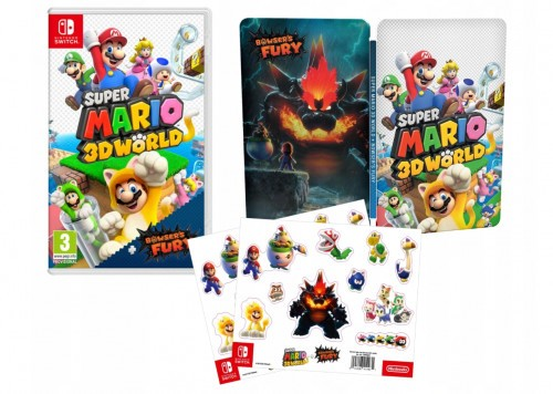 Super Mario 3D World + Bowser's Fury - steelbook i naklejki