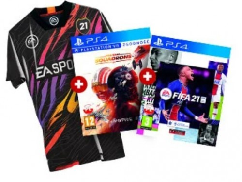 FIFA 21 PS4 + Star Wars: Squadrons Gra PS4 + Koszulka