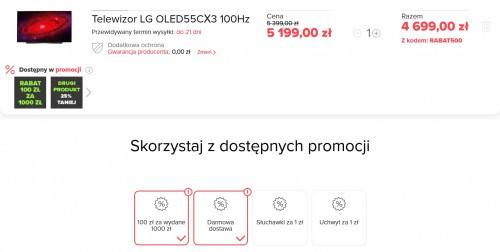 Telewizor LG OLED55CX3 100Hz za 4699 zł