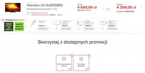 Telewizor LG OLED55BX3 za 4299 zł