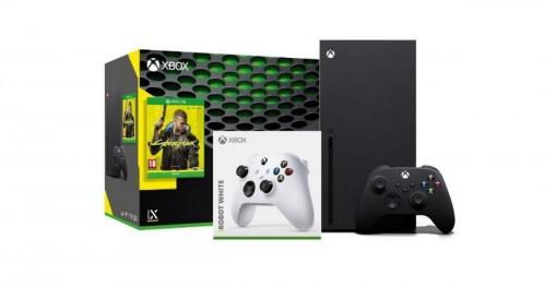 Promocja na Xbox Series X + Cyberpunk 2077 + dodatkowy pad (biały)
