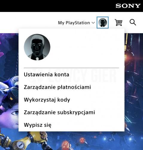 Konto użytkownika PlayStation Store