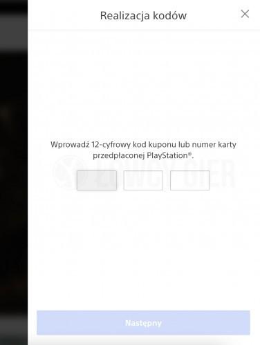 Dodawanie kart podarunkowych do PlayStation Store
