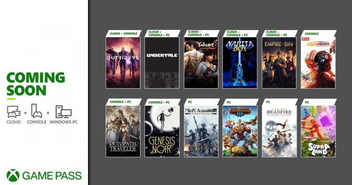 Xbox Game Pass marzec 2021