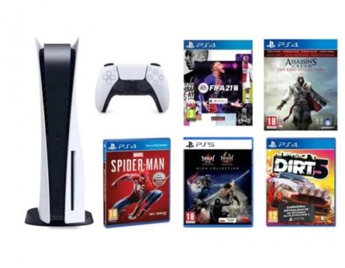Promocja na PlayStation 5 + Marvel's Spider-Man + FIFA 21