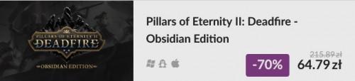 Promocja na Pillars of Eternity II: Deadfire Obsidian Edition
