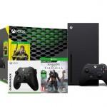 Xbox Series X + Cyberpunk 2077 + Assassin's Creed Valhalla + dodatkowy pad (czarny)