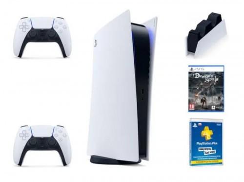 Promocja na PlayStation 5 + PlayStation Plus subskrypcja na 365 dni + DualSense + PS5 DualSense Charging Station + Demon's Soul Remake