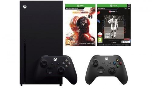 Promocja na XBOX Series X + Kontroler MS Wireless Czarny + Fifa 21 + Star Wars