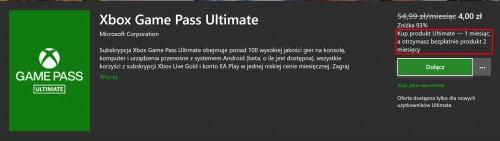 Promocja na 3 miesiące Xbox Game Pass za 4 zł