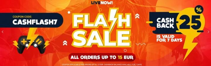 Promocja na GAMIVO Flash Sale Cash Back 25%