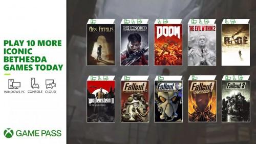 Gry Bethesda w Xbox Game Pass