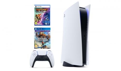 Konsola SONY PlayStation 5 + Ratchet & Clank: Rift Apart + Immortals Fenyx Rising Shadowmaster Edition