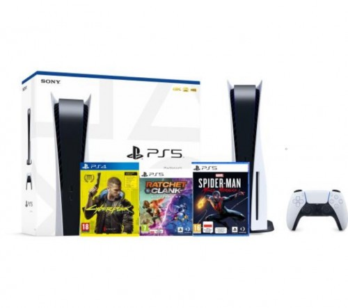 Promocja na PlayStation 5 + Marvel's Spider-Man: Miles Morales + Cyberpunk 2077 + preorder Ratchet & Clank: Rift Apart