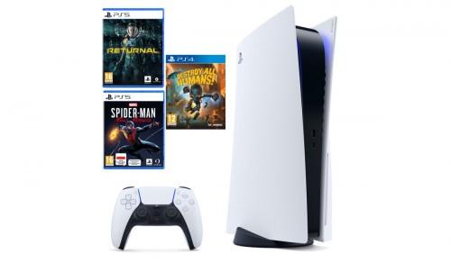 PlayStation 5 + Returnal + Spider-man Miles Morales + Destroy All Humans