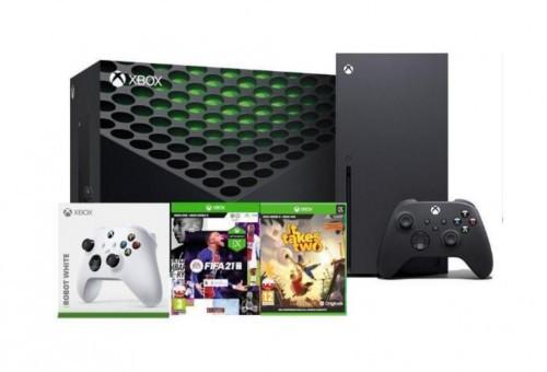 Xbox Series X + FIFA 21 +It Takes Two + dodatkowy pad