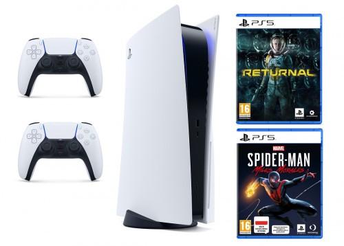 PlayStation 5 + Kontroler DualSense + Returnal + Spider-Man