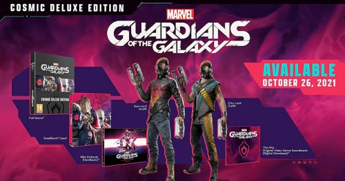 Promocja na Marvel's Guardians of the Galaxy Cosmic Deluxe Edition