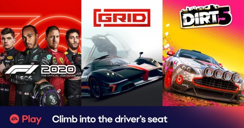 EA Play F12020, GRID, DIRT 5