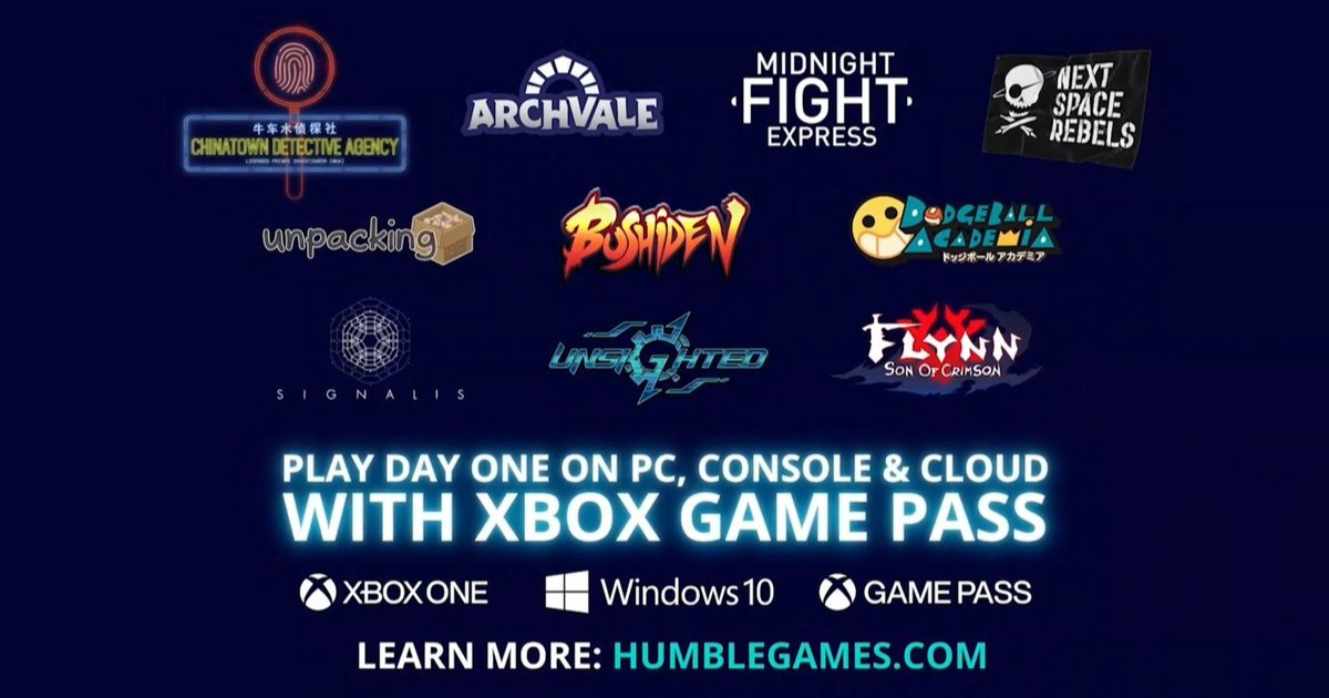 Humble Games w Xbox game Pass