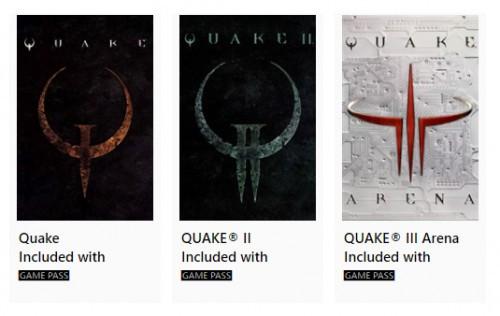 Quake, Quake II, Quake III Arena w Xbox Game Pass
