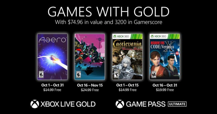 Games With Gold October 2021