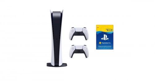 PS5 Digital + pad + 3 msc PS Plus